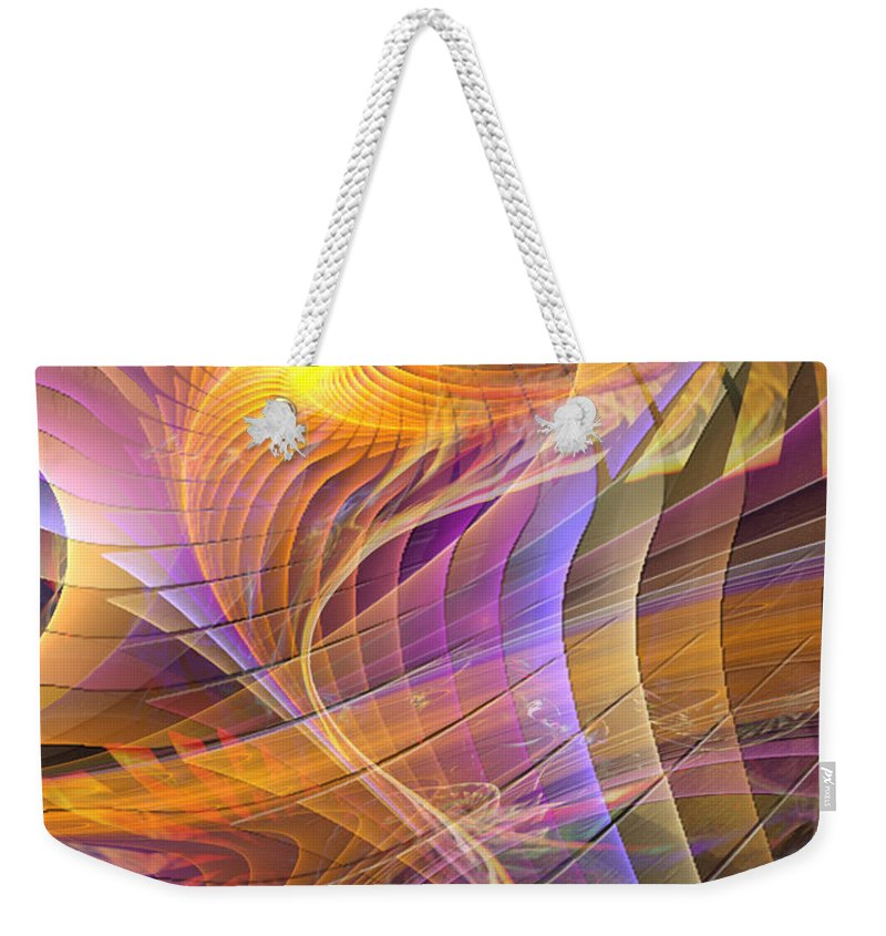 Bright Idea Abstract Weekender Tote Bag featuring the digital art Bright Idea by John Beck