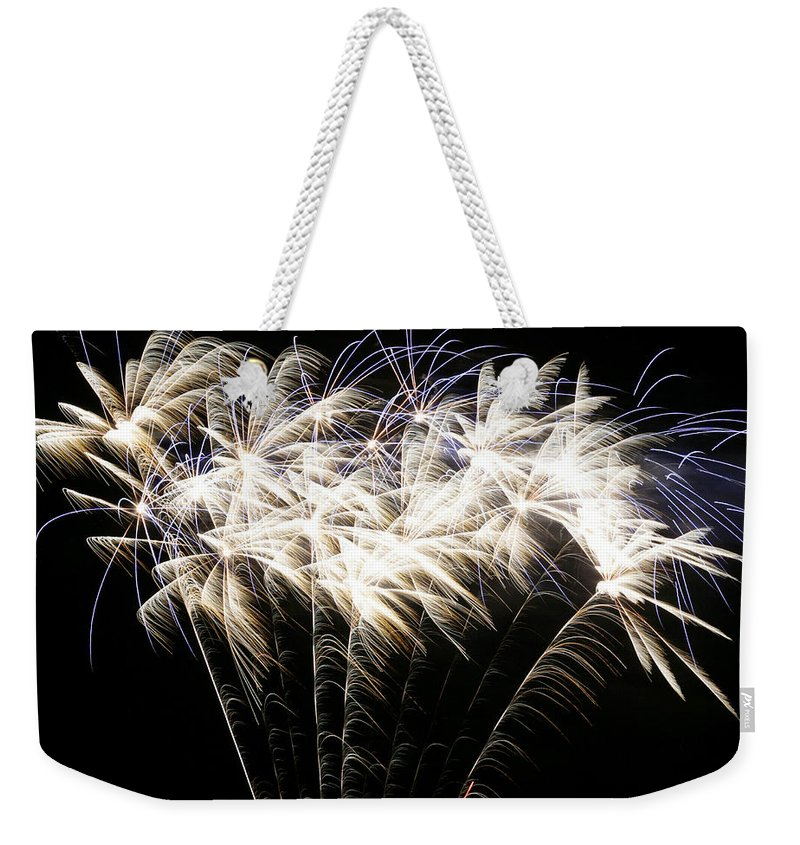 July 4th Weekender Tote Bag featuring the photograph Bright Lights by Phill Doherty