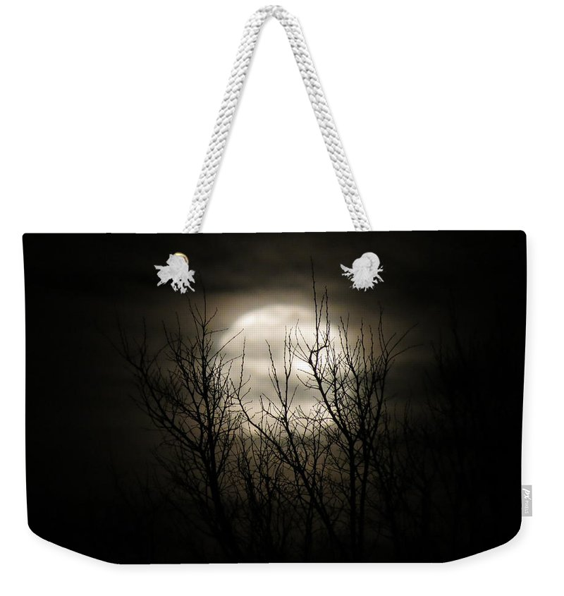 Moon Weekender Tote Bag featuring the photograph Bright Night by Laurel Powell