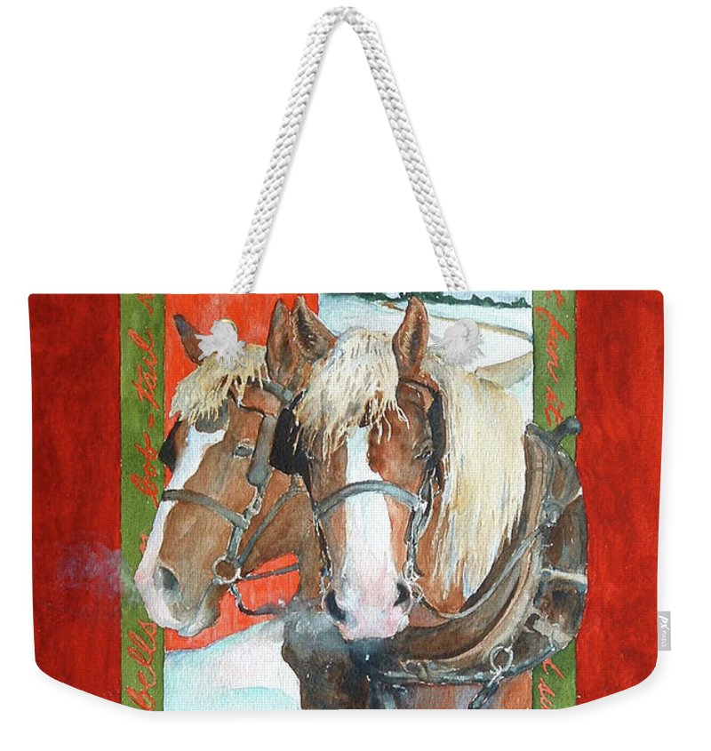 Horses Weekender Tote Bag featuring the painting Bright Spirits by Christie Michelsen