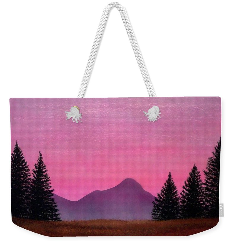 Landscape Weekender Tote Bag featuring the painting Brightness by Frank Wilson