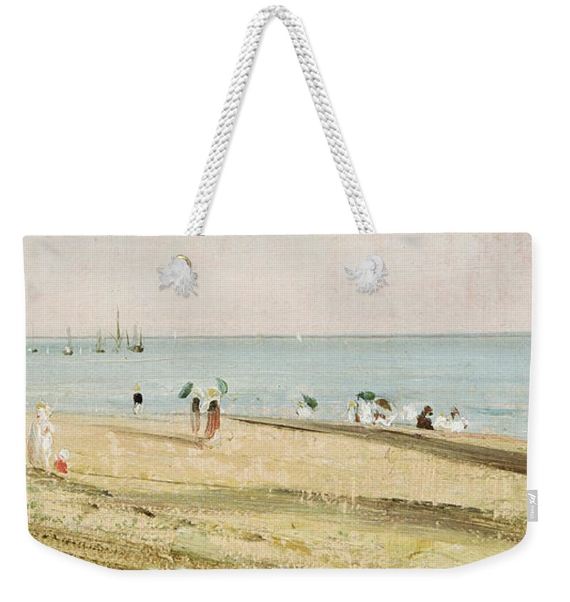 Constable Weekender Tote Bag featuring the painting Brighton Beach  Detail by John Constable