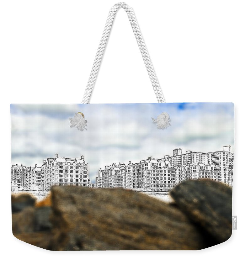 America Weekender Tote Bag featuring the photograph Brighton Beach by Svetlana Sewell