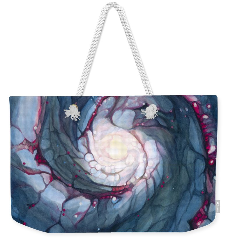 Brigid Weekender Tote Bag featuring the painting Brigid The Goddess Of Fire Poetry And Healing by Do'an Prajna - Antony Galbraith