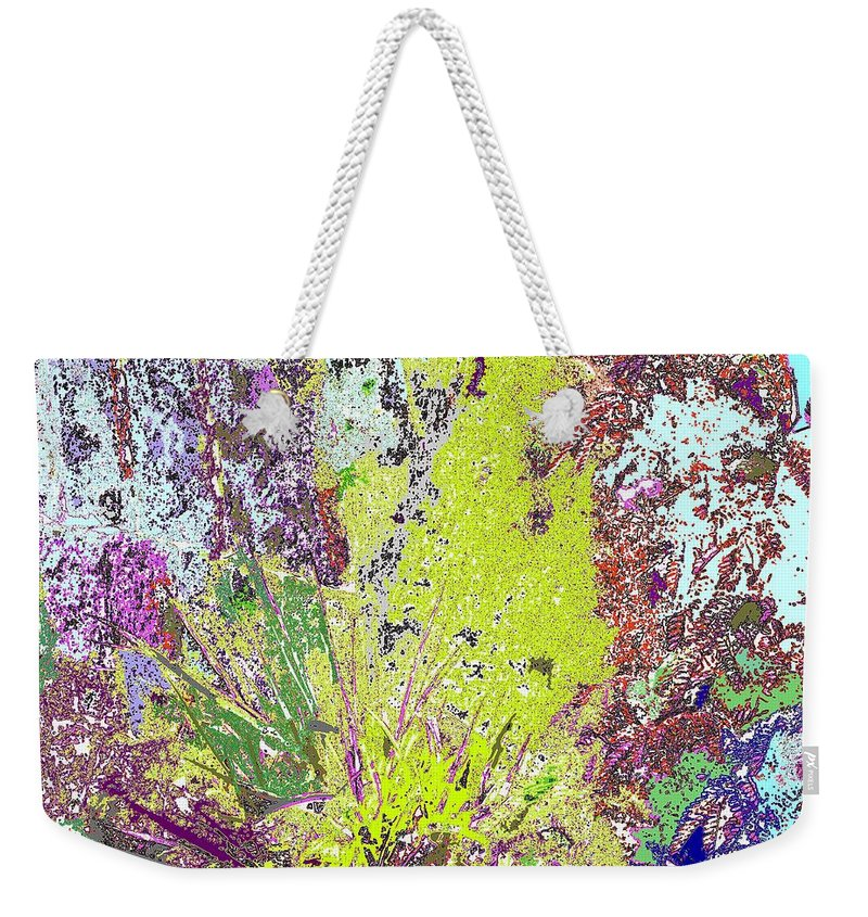 Abstract Weekender Tote Bag featuring the photograph Brimstone Fantasy by Ian MacDonald