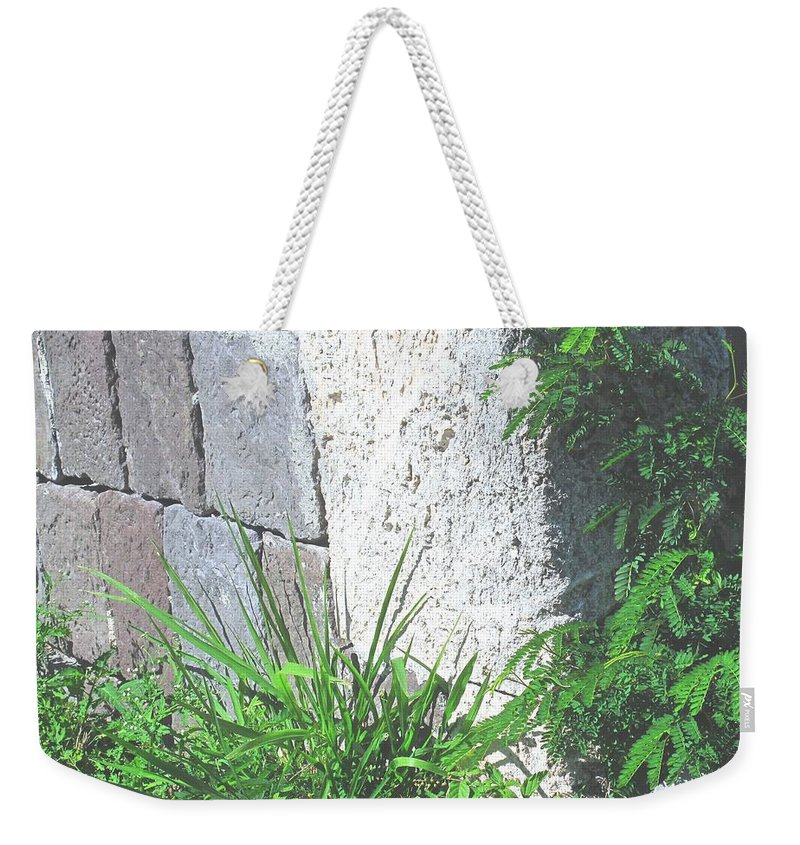 Brimstone Weekender Tote Bag featuring the photograph Brimstone Wall by Ian MacDonald
