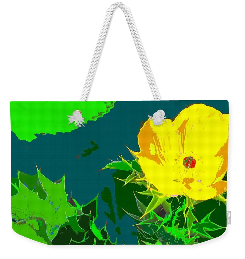 Weekender Tote Bag featuring the photograph Brimstone Yellow by Ian MacDonald