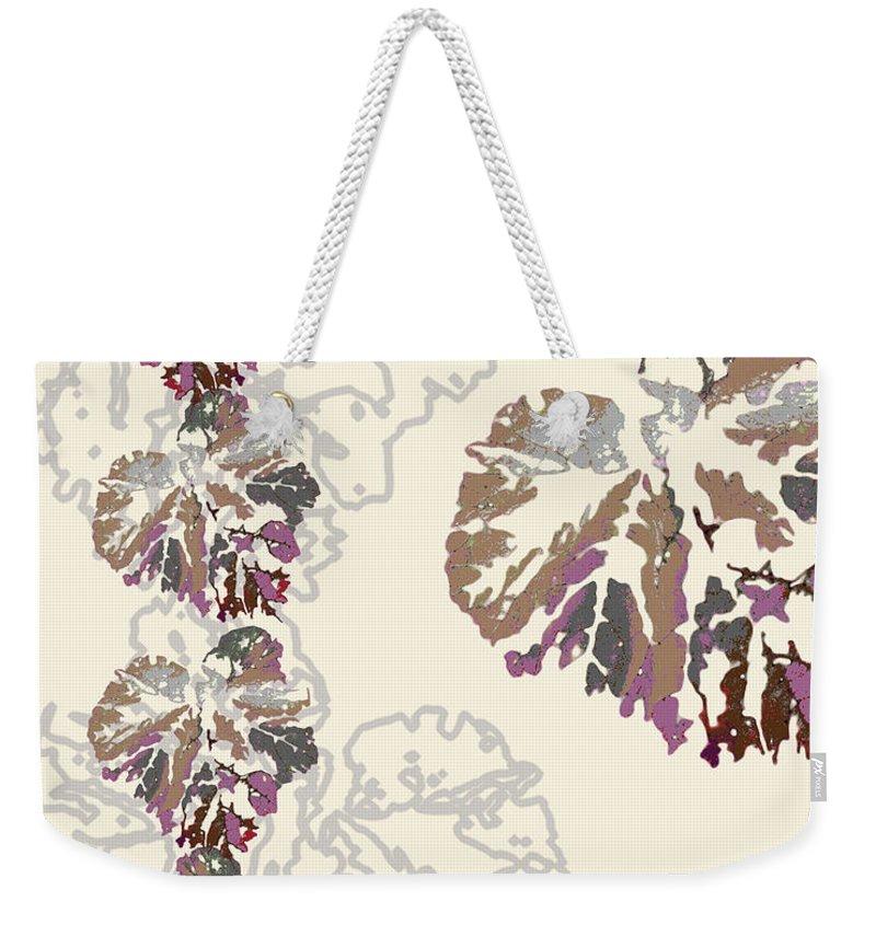 Leaves Weekender Tote Bag featuring the digital art Brin by Ceil Diskin