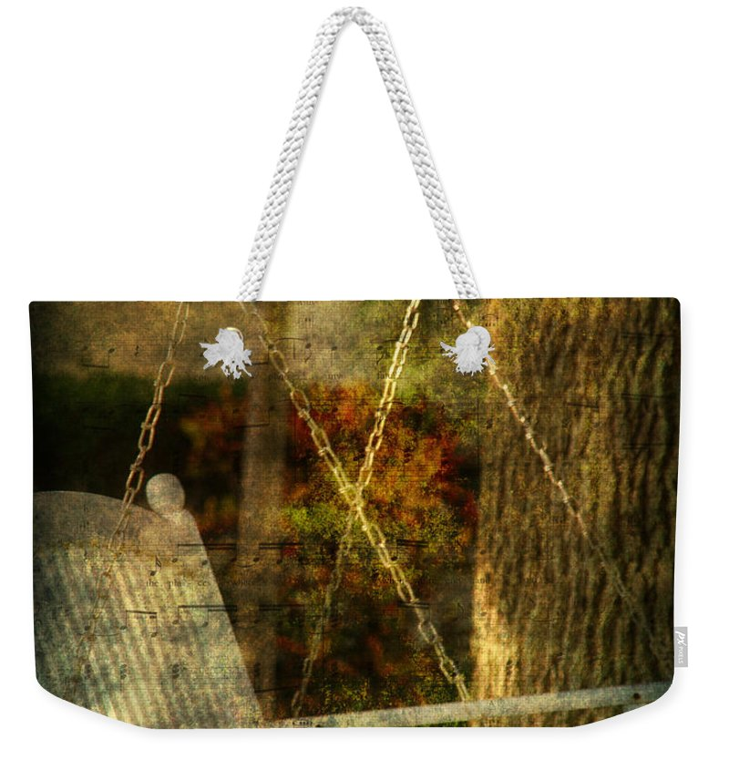 Swing Weekender Tote Bag featuring the photograph Bring Back All The Memories by Susanne Van Hulst