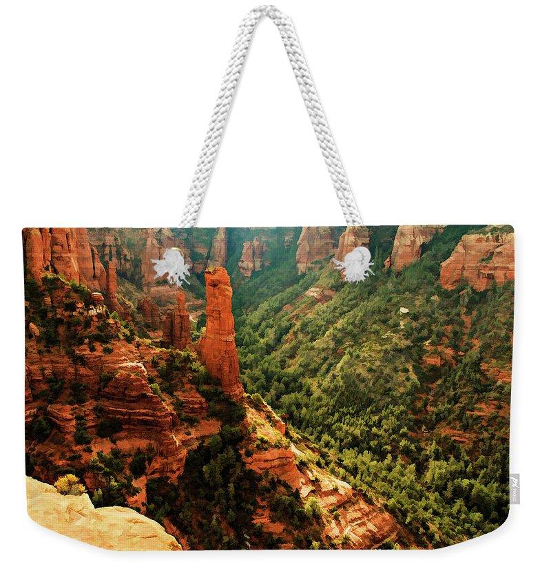 Arizona Weekender Tote Bag featuring the photograph Brins Mesa 07-143 by Scott McAllister