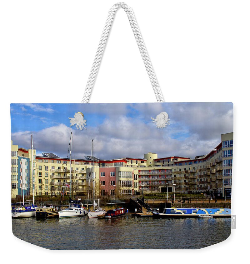Bristol Weekender Tote Bag featuring the photograph Bristol Harbour Appartments by Brian Roscorla