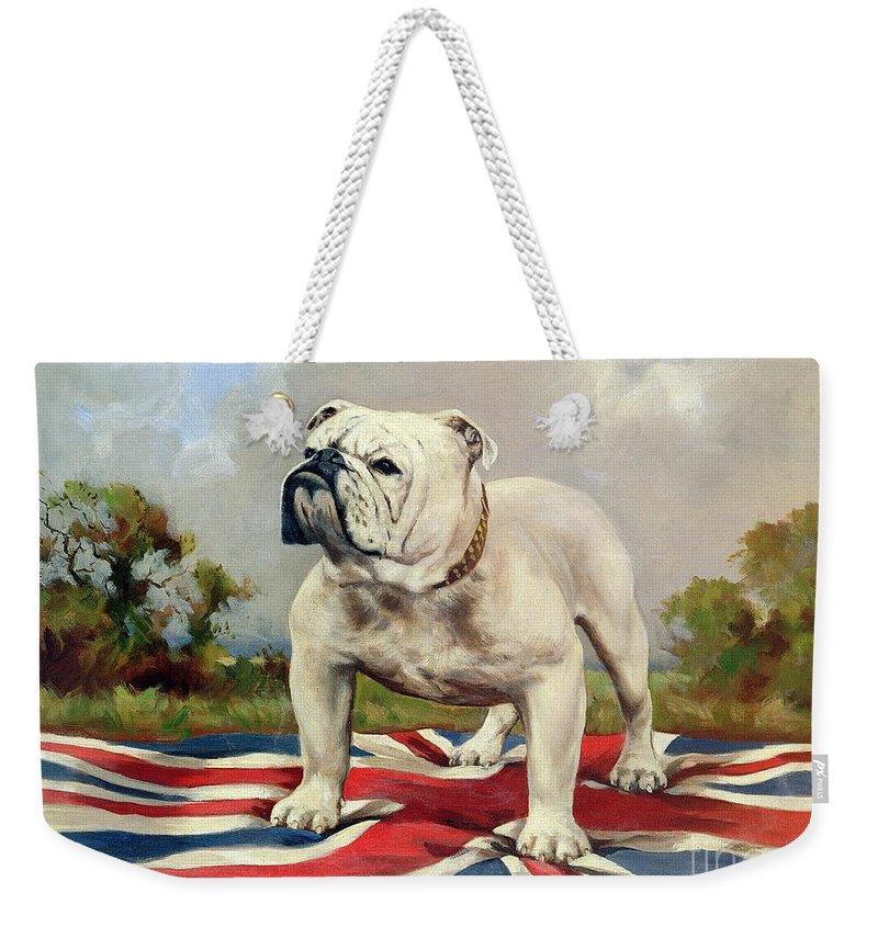 English Bulldog Weekender Tote Bags