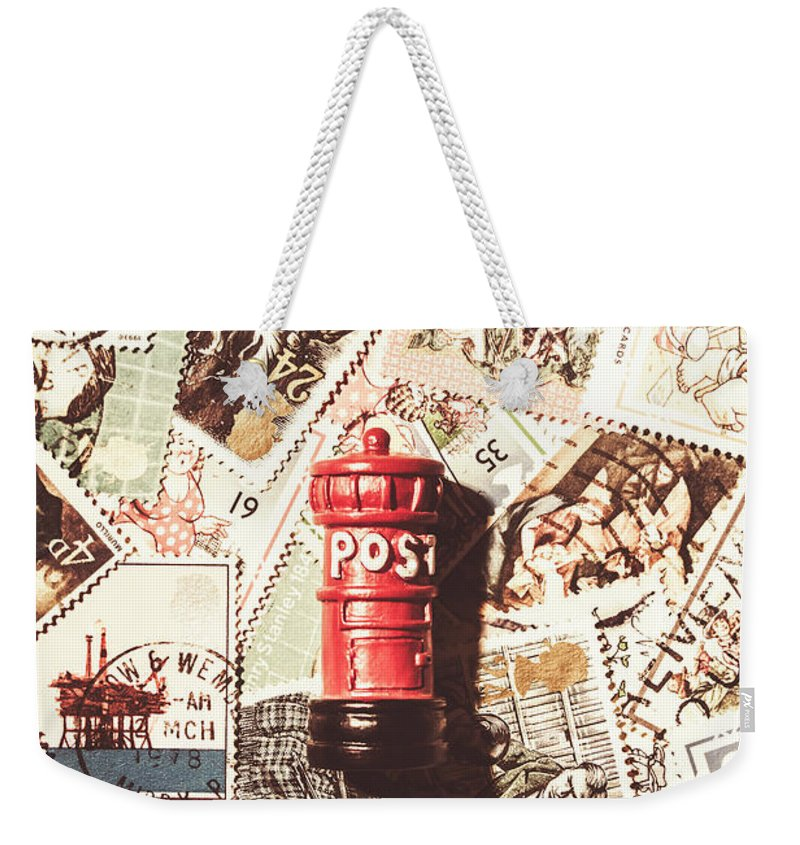 England Weekender Tote Bag featuring the photograph British Post Box by Jorgo Photography - Wall Art Gallery