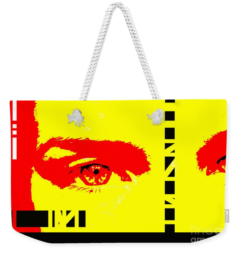 Eyes Weekender Tote Bag featuring the photograph Broken by Amanda Barcon