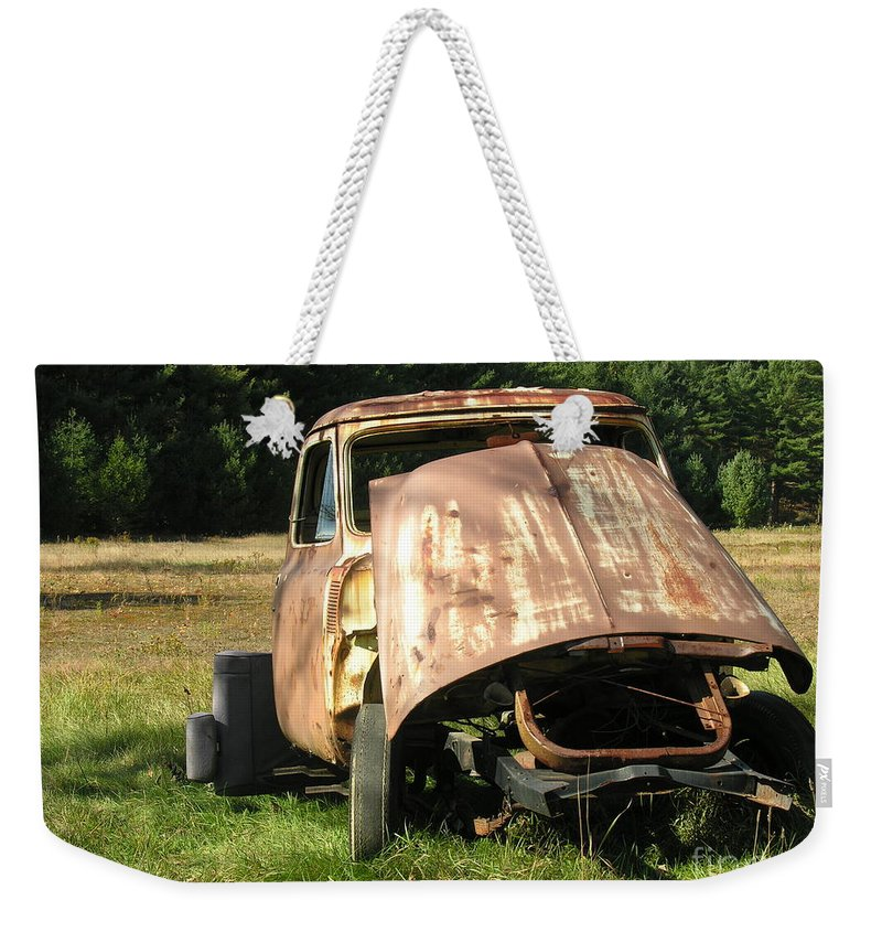 Broken Weekender Tote Bag featuring the photograph Broken And Confused by Diane Greco-Lesser