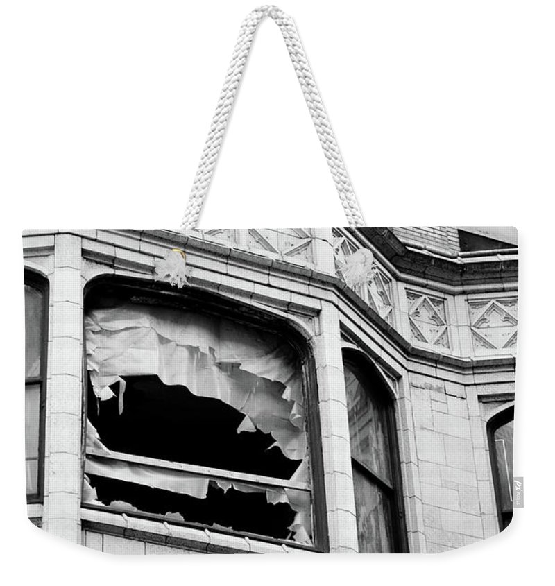 City Weekender Tote Bag featuring the photograph Broken City by Kimberly Farmer