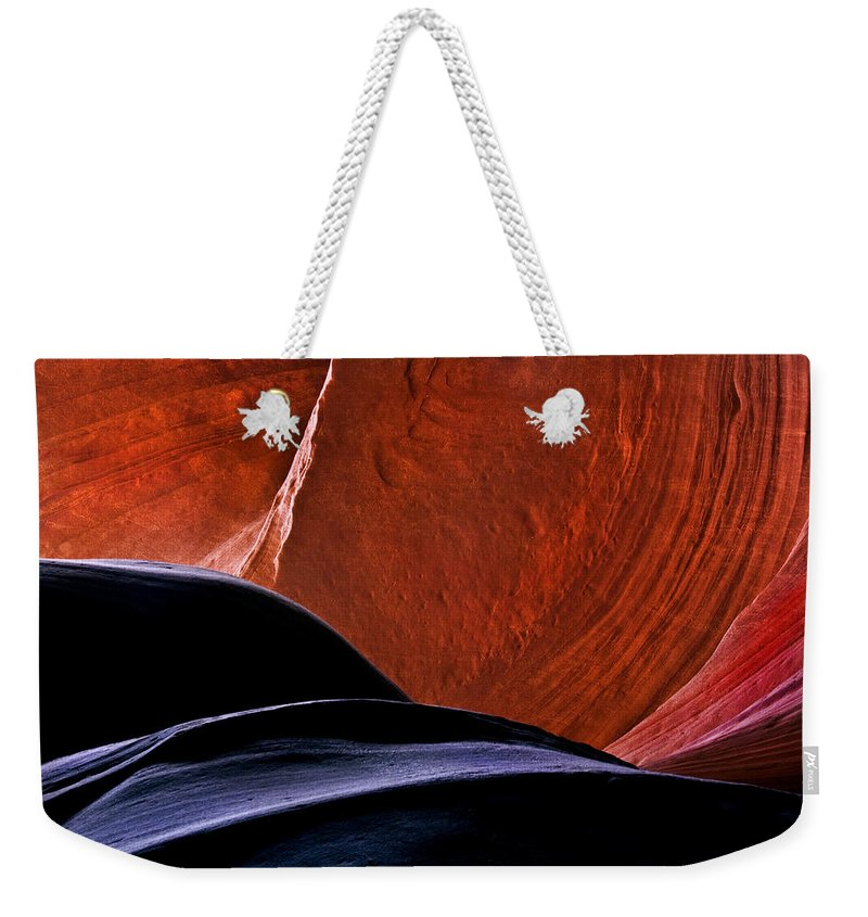 Sandstone Weekender Tote Bag featuring the photograph Broken Dial by Mike Dawson