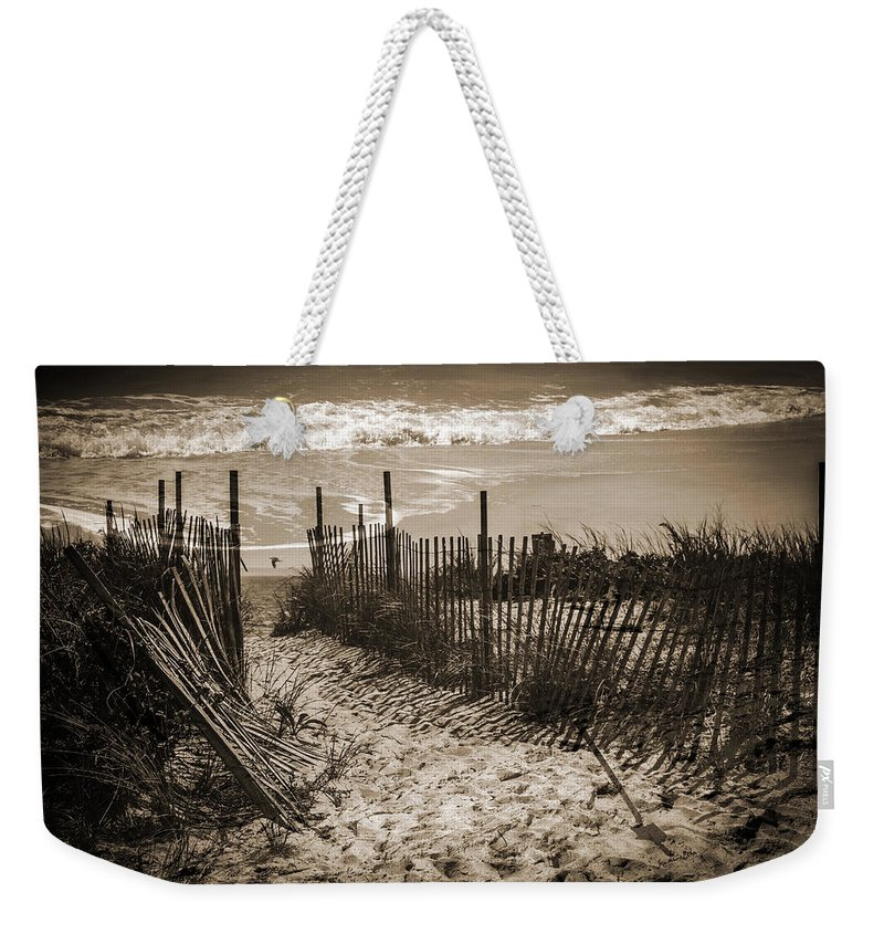 Beach Weekender Tote Bag featuring the photograph Broken Dreams And Half Remembered Memories by Madeline Ellis
