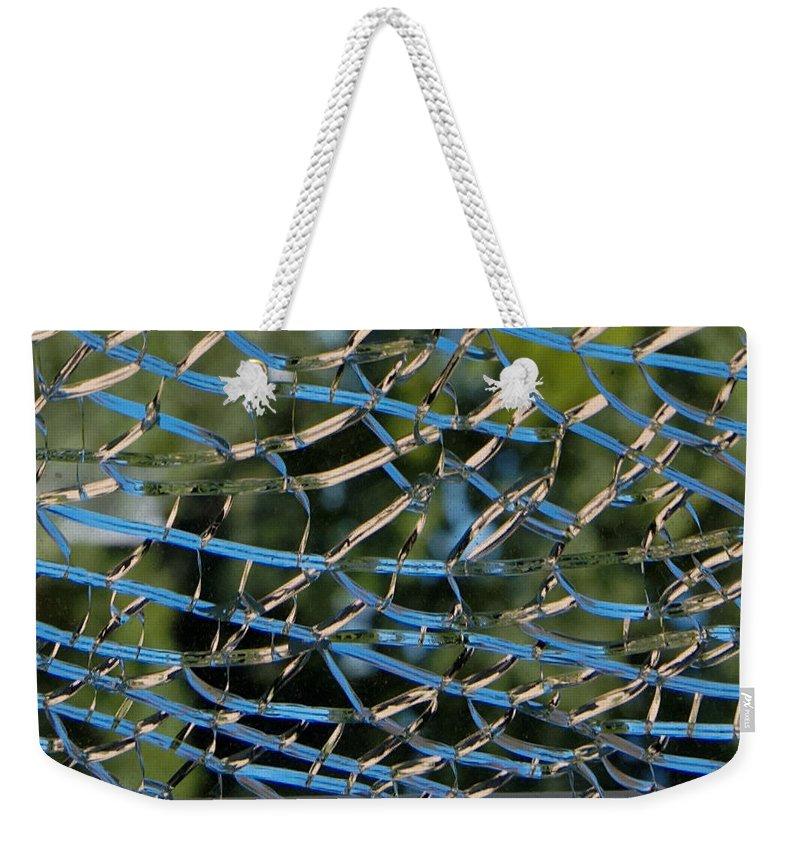 Broken Glass Weekender Tote Bag featuring the photograph Broken Glass by Julie Niemela