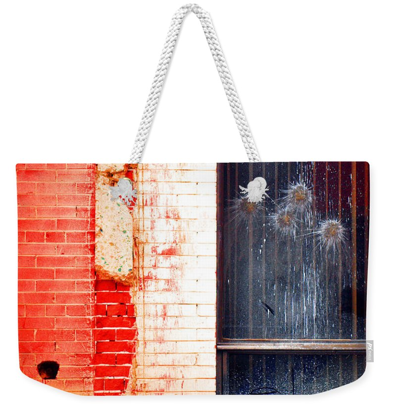 Glass Weekender Tote Bag featuring the photograph Broken Glass Like Flowers by Tara Turner