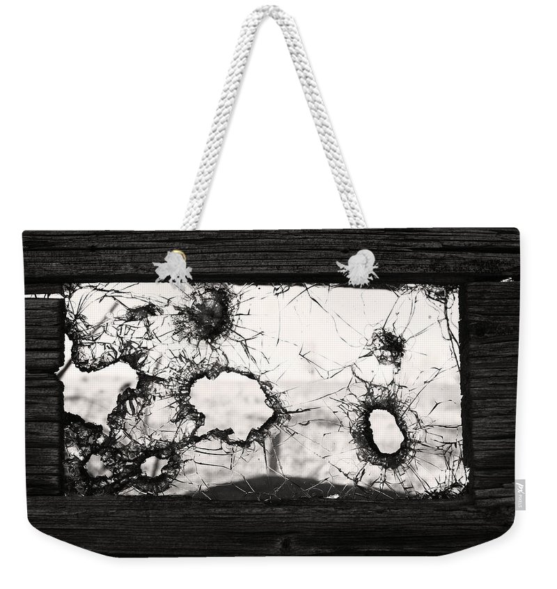 Window Weekender Tote Bag featuring the photograph Broken To Beautiful by The Artist Project