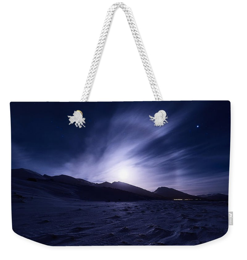 Halo Weekender Tote Bag featuring the photograph Broken by Tor-Ivar Naess