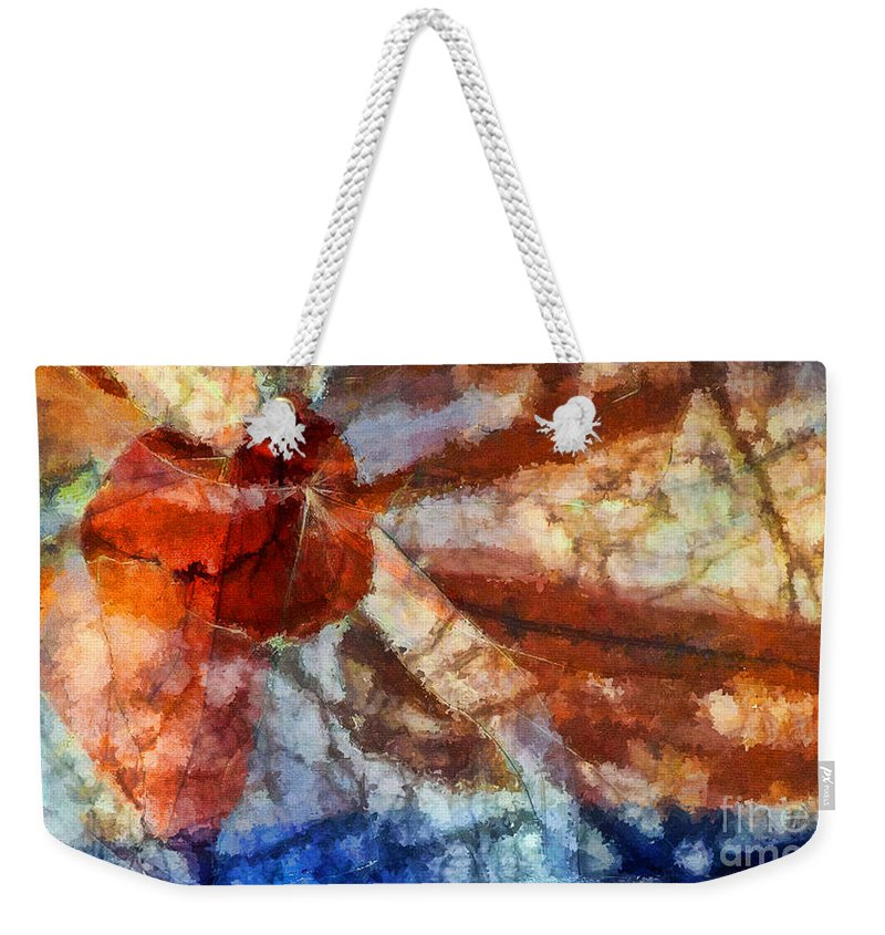 Abstract Expressionism Weekender Tote Bag featuring the painting Broken Window Abstract by Henry J Yasses