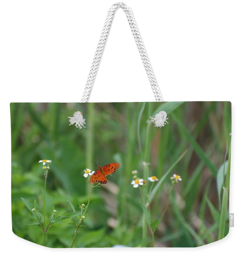 Butterfly Weekender Tote Bag featuring the photograph Broken Wing by Rob Hans