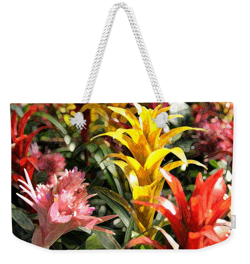 Impressionism Weekender Tote Bag featuring the photograph Bromeliads by Steven Sparks