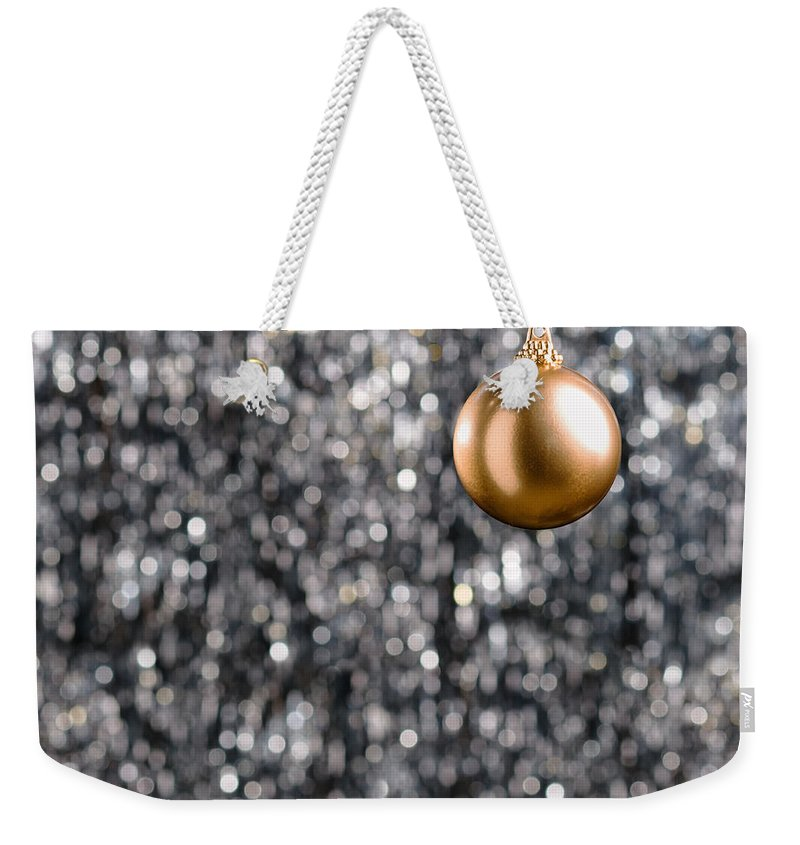 Advent Weekender Tote Bag featuring the photograph Bronze Christmas by U Schade