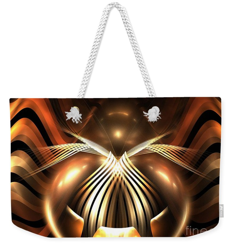 Apophysis Weekender Tote Bag featuring the digital art Bronze Spider by Kim Sy Ok
