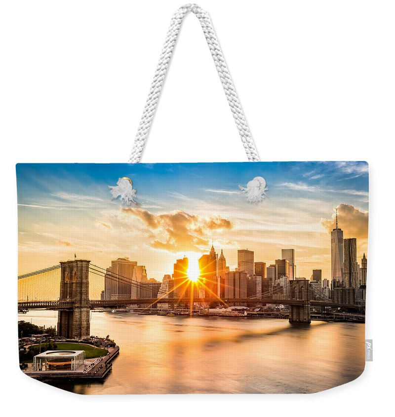New York City Skyline Photographs Weekender Tote Bags