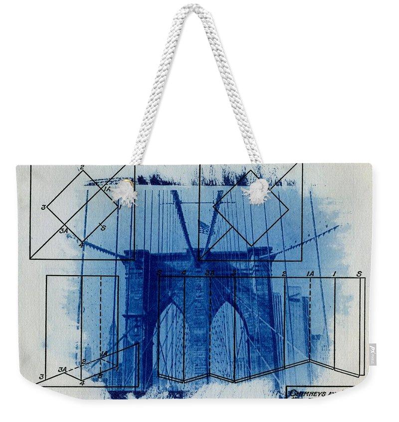 Brooklyn Bridge Weekender Tote Bag featuring the photograph Brooklyn Bridge by Jane Linders