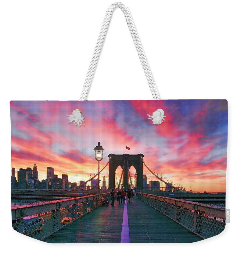 New York Landscape Weekender Tote Bags
