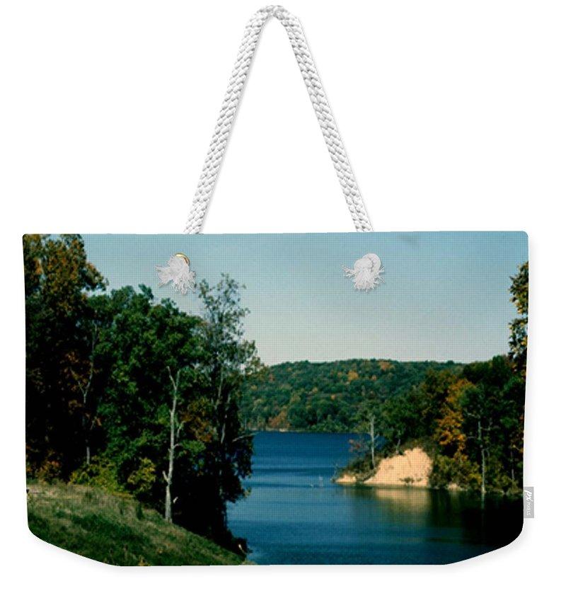 Brookville Indiana Weekender Tote Bag featuring the photograph Brookville Lake Brookville Indiana by Gary Wonning