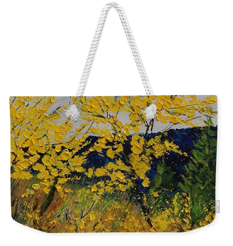 Flowers Weekender Tote Bag featuring the painting Brooms by Pol Ledent