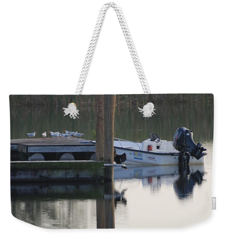 Water Weekender Tote Bag featuring the photograph Broward Boat by Rob Hans