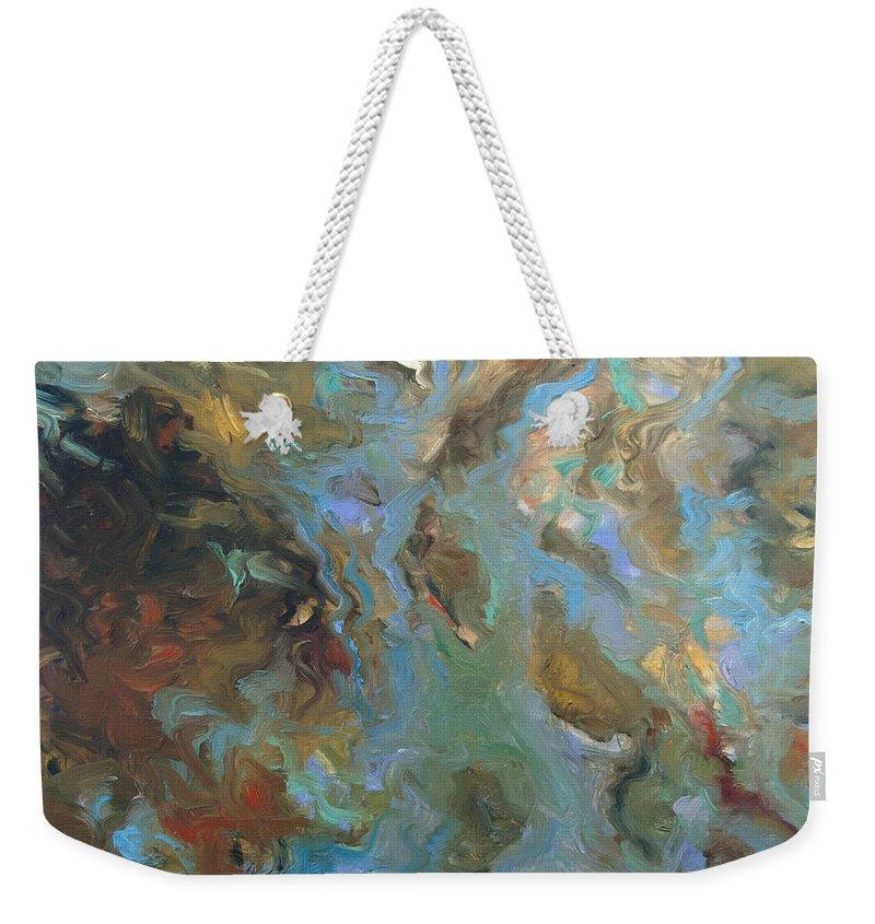 Water Weekender Tote Bag featuring the painting Brown by Rick Nederlof