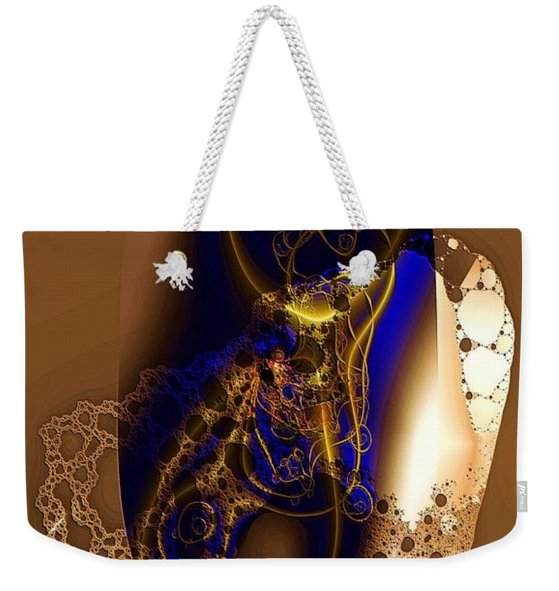Browns Weekender Tote Bag featuring the digital art Browns by Ron Bissett