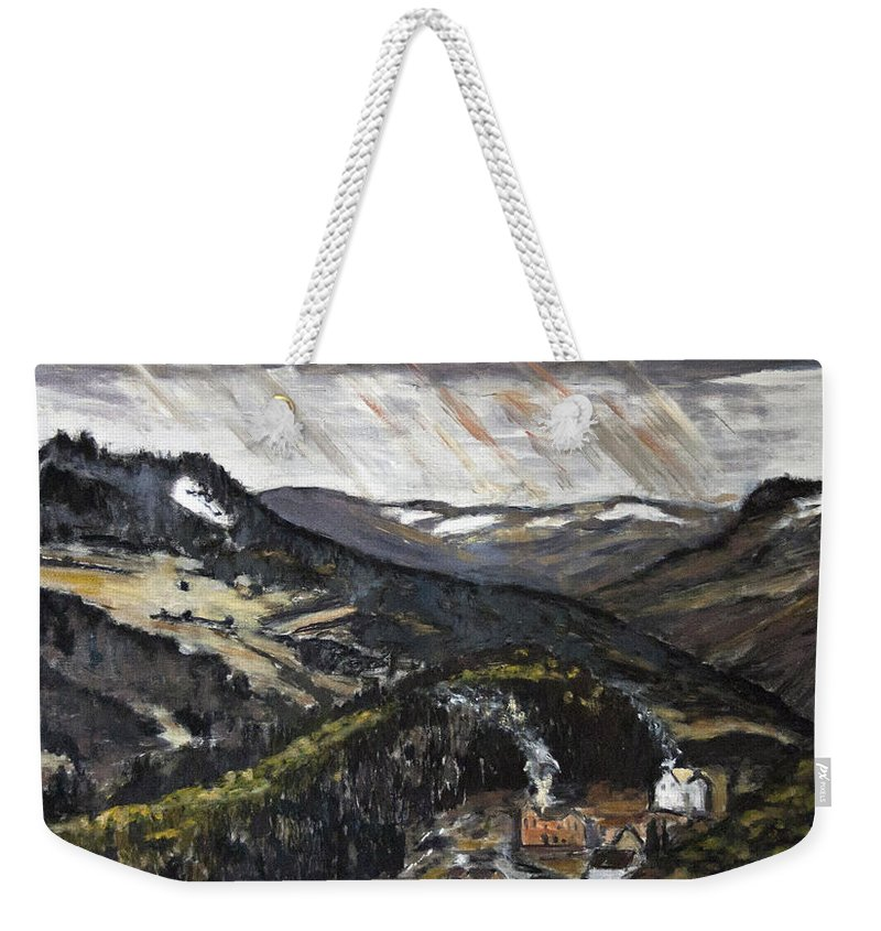 Landscape Weekender Tote Bag featuring the painting Brrr To Byla Zima by Pablo de Choros