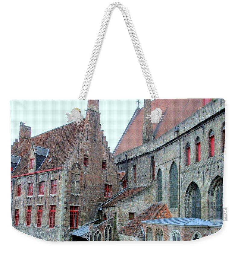 Bruges Weekender Tote Bag featuring the photograph Bruges 4 by Randall Weidner