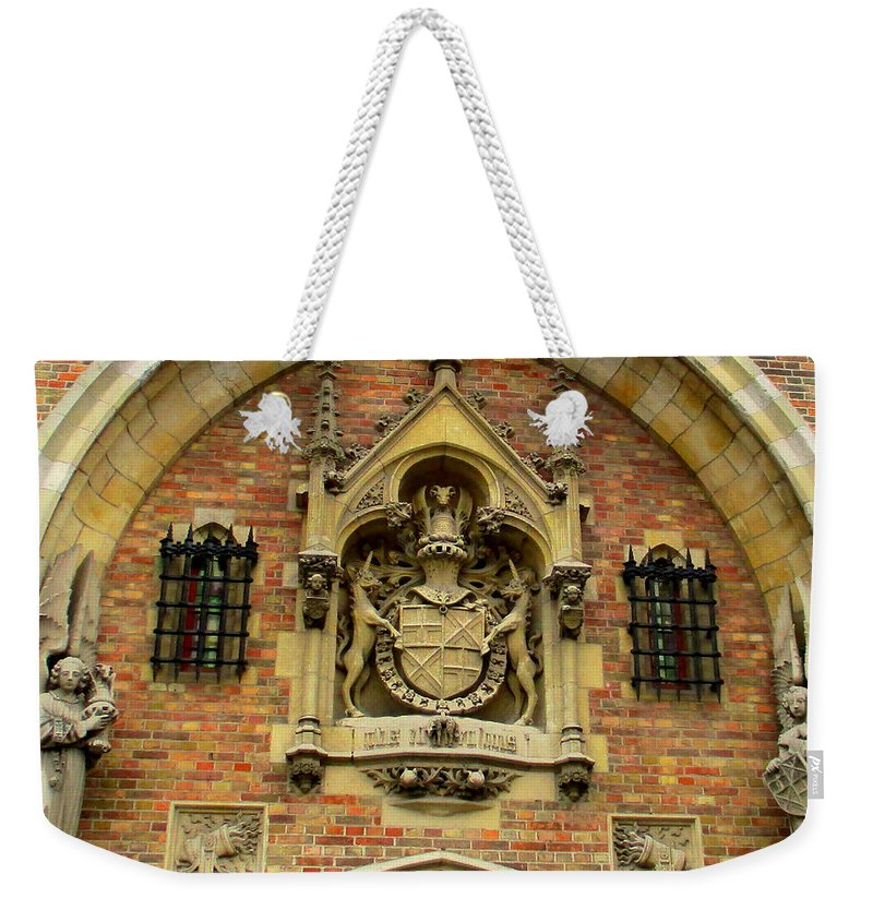 Bruges Weekender Tote Bag featuring the photograph Bruges Detail 9 by Randall Weidner