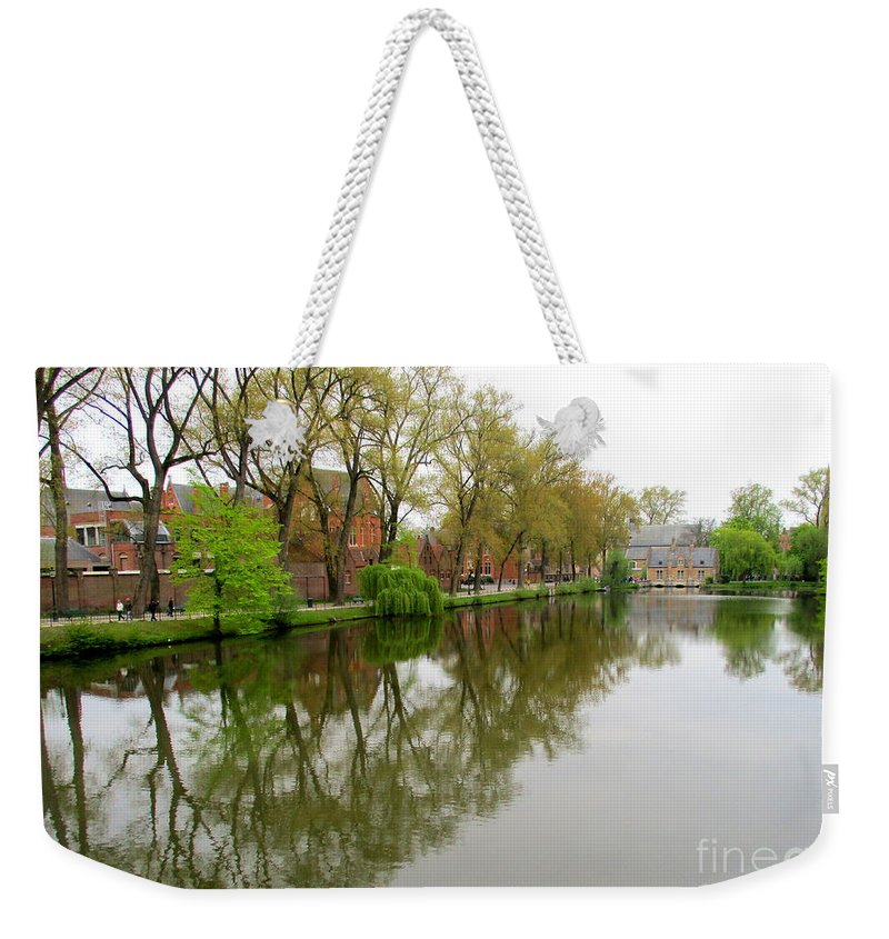 Bruges Weekender Tote Bag featuring the photograph Bruges Minnewater 1 by Randall Weidner