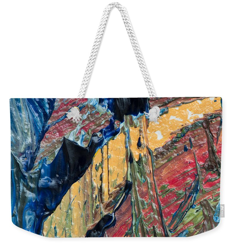 Art Weekender Tote Bag featuring the photograph Brush Stroke Detail 8056 by Bob Neiman