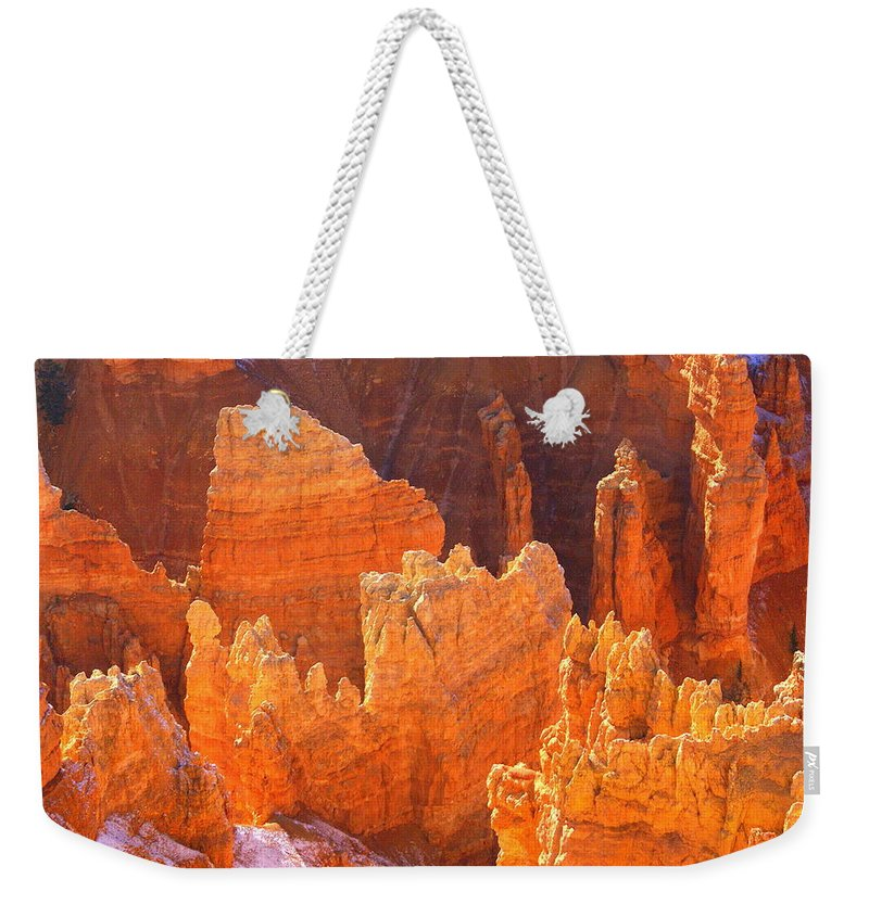 Bryce Canyon National Park Weekender Tote Bag featuring the photograph Bryce Ablaze by Marty Koch