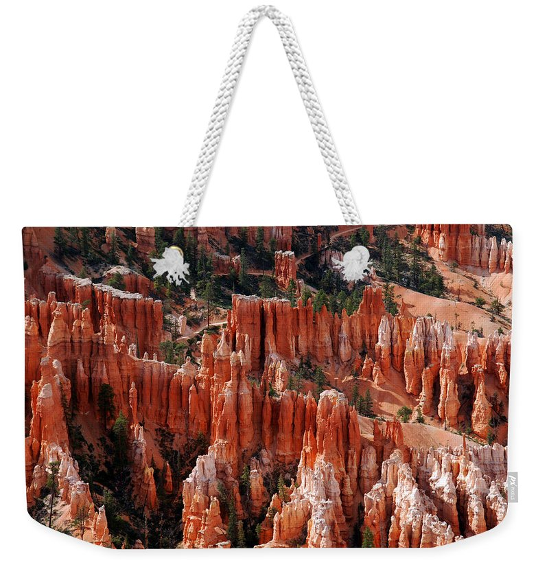 Bryce Canyon Weekender Tote Bag featuring the photograph Bryce Canyon In Utah by Susanne Van Hulst