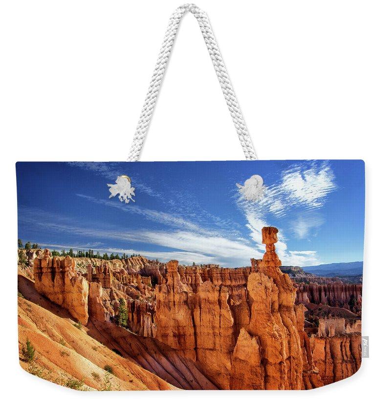 Bryce Canyon Landscape Weekender Tote Bag featuring the photograph Bryce Canyon Landscape by Carolyn Derstine