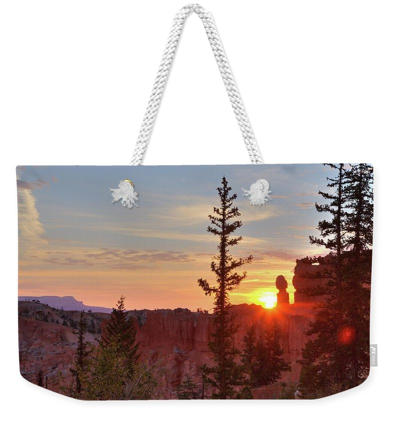 Bryce Canyon National Park Weekender Tote Bag featuring the photograph Bryce Canyon Sunrise by Jim Allsopp