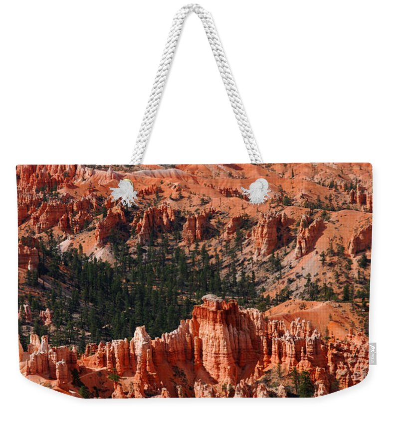 Photography Weekender Tote Bag featuring the photograph Bryce Canyon Vertical by Susanne Van Hulst