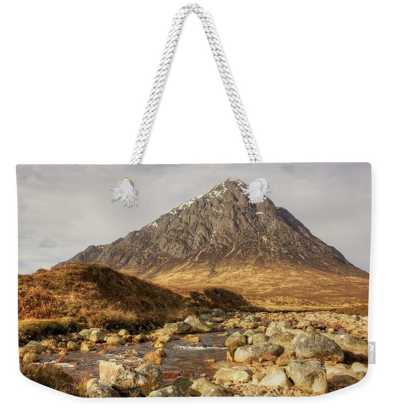 Buachaille Etive Mor Weekender Tote Bag featuring the photograph Buachaille Etive Mor II by Colette Panaioti